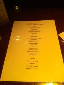 Anchorage Hotel Troon menu